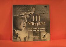 HI NEIGHBOR #8 - SONGS FROM COLOMBIA, TANZANIA, CAMBODIA & LIBYA  EX VINYL LP -S