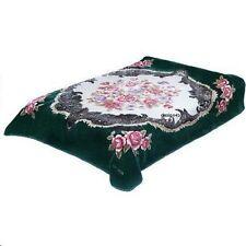 Solaron Korean Blanket throw Thick Mink Plush queen size Roses Licensed Acrylic
