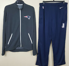 10b72e830f2af8 NIKE NEW ENGLAND PATRIOTS DRI-FIT SUIT JACKET+PANTS TEAM ISSUED NFL RARE  SIZE