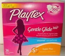 Playtex Gentle Glide 360 Plastic Tampons, Unscented, Super Plus 36 ea