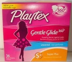 Playtex Gentle Glide 360 Plastic Tampons, Unscented, Super Plus 36 ea