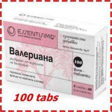 Valeriana Extra Strong Sleeping Pills 100% Natural Valerian 100 tabs