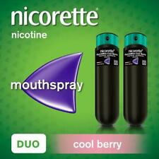 Nicorette Nicotine Quickmist Mouthspray COOL BERRY FLAVOUR 1mg DUO (2 x 150)