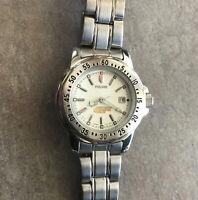 Vintage Pulsar By Seiko Women's Diver Style Watch 10Bar WR Japan V732-6C60 Bin O