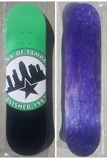 "New Skateboard Deck Skatepark of Tampa Logo Mint Green Rare SPoT 8"" x 31.5"""