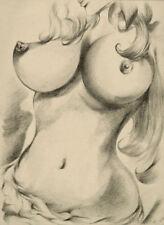 Original+Akt+Zeichnung+Nu Dessin+Female Drawing+Nude+21x29,7cm+BlattNr306