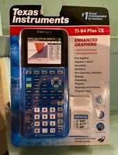 Texas Instruments TI-84 Plus CE Graphing Calculator Blue Brand New Sealed