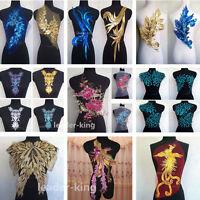 Sequin Motif Lace Applique Trims Dance Wedding Bridal Embroidery Sew DIY Decor