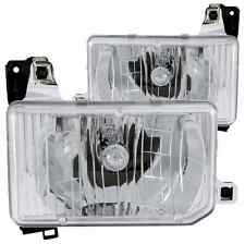 ANZO 111050 Set of 2 Chrome Crystal Headlights for Nissan D21/Pathfinder