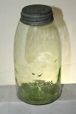 LIGHT GREEN BALL MASON 1/2 GALLON FRUIT JAR