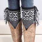 EF Boot Cuffs Socks Toppers Girls Womens Crochet Knit Leg Calf Warmers