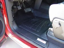 Front & Second Row Black Floor Mats for 2007 - 2014 Chevy Silverado Extended Cab