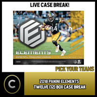 2018 PANINI ELEMENTS FOOTBALL 12 BOX FULL CASE BREAK #F080 - PICK YOUR TEAM