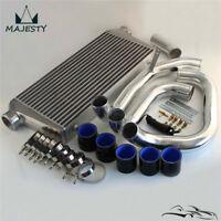 FMIC Intercooler w/ Pipe Piping Kit For Skyline R32 R33 R34 GTST RB20 RB25DET BK