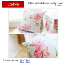 Pink Azalea Natural Cotton Cushion Cover Home Decor Pillow Case 45*45cm