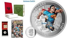2015 Silver $20 Iconic Covers Superman Action Comics #1 - 2011 COIN with COMIC