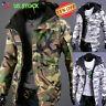 US Men's Warm Camo Jacket Winter Hooded Military Army Zipper Parka Coat Overcoat
