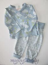 HANNA ANDERSSON Organic Kimono Tee Wiggle Pants Set Dream Blue 70 9-18 mos NWT