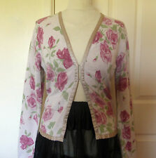 Vintage cardigan by Laura Ashley, Floral c. 1980s size M