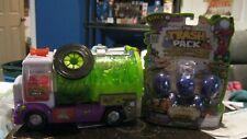 The Trash Pack Sewer Truck Purple Green Vac Vacuum Vehicle Trashies + 1 new pack