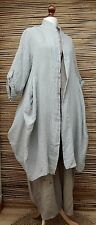 LAGENLOOK LINEN/COTTON LAYERING QUIRKY BOHO JACKET/COAT***GREY***SIZE L-XL-XXL