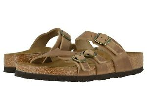 Women's Shoes Birkenstock FRANCA Oiled Leather Sandals 1015931 TOBACCO