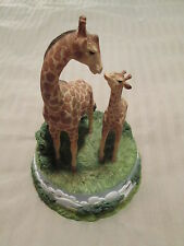 "San Francisco Music Box Company *Giraffes* - ""You Light Up My Life"" Great Gift"