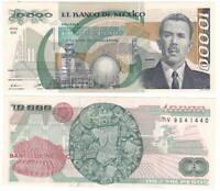 MEXICO 10000 Pesos (1988) P-90b NK Series V Prefix UNC Banknote Paper Money