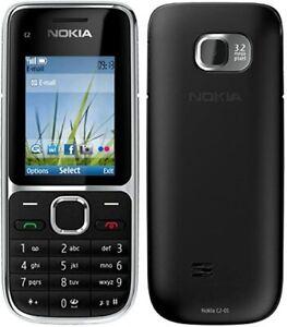 Nokia C2-01  (Ohne Simlock)  Frei für alle Sim-Karten Neu schwarz