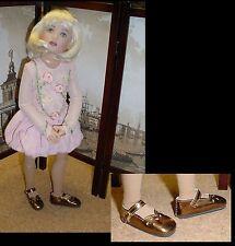 "Doll Shoes, SLIM*  58mm COPPER Girl Dressy - fits 14"" Kish"