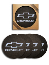 Chevrolet Bowtie Recycled Rubber Tire Coaster Set - (4 pc.)