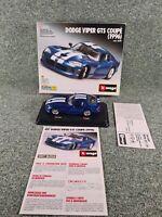BBURAGO BURAGO KIT 5530 DODGE VIPER GTS 1996 BLUE BOXED