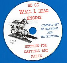 50CC  Wall L Head engine 4 cylinder gas you can build on CD-ROM pdf files