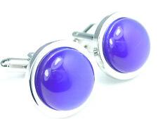 Blue Cat Eye Cuff Links Cateye Cufflinks #C-78