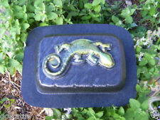 "heavy duty rain pattern brick mold lizard gecko 9"" x 6"" x 2"""