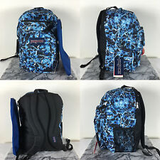 JanSport Digital Student BackPack 100% AUTHENTIC Multi Blue Ice Superbreak bag