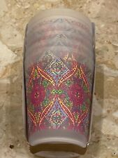 Cynthia Rowley Pink Yellow Green Paisley Plastic Outdoor Tumblers Cups Set of 6