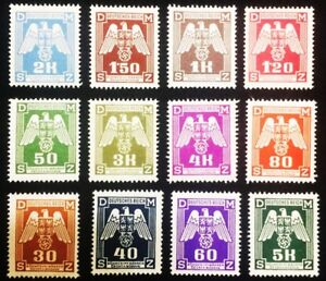 Authentic Antique Rare German Stamps  - Vintage WW2 Era Artifacts