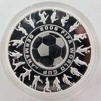 .2006 FIFA WORLD CUP GERMANY .999% FINE SILVER 1oz HOLEY DOLLAR PROOF.