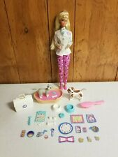 Pet Dr. Barbie Veterinarian w/ Animals, Sound Bed, Accessories by Mattel 1996
