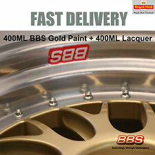 1x 400ML Aerosol German BBS Racing Satin Gold Paint + 400ML Lacquer E88 NEW