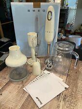 Smeg Hand Blender, Jug, Whisk, Chopper, Potato Masher , Cream, Boxed