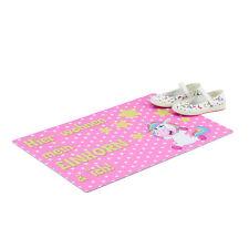 Fußmatte Einhorn, rosa Türvorleger, Sterne Motiv, Fußabtreter rutschfest, Matte