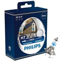H7 PHILIPS RACING VISION 3500K Ultimate White Light Bulbs Headlamp 12972RVS2