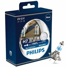 H7 PHILIPS RACING VISION 3500K Ultimate White Light Bulbs Headlamp 12972RVS2