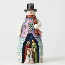 Jim Shore Snowman w/Holy Family Figurine ~ Cold Night, Warm Miracle ~ 4053714