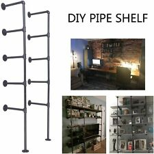 Industrial Retro Wall Mount Iron Pipe Shelf Storage Shelving Bookshelf 2pcs DIY