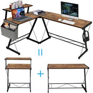 Computertisch Eckschreibtisch Schreibtisch Gaming Tisch PC Bürotisch L-förmiger