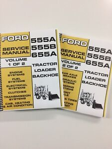 Ford 555A Tractor Loader Backhoe Repair Manual Service Manual 712 PAGES