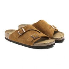 BIRKENSTOCK ZURICH SFB Leather Slide Slip On Sandals Brown 1009534 Sz 35-43